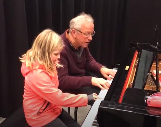 Imara en de 9e symfonie van Beethoven tijdens pianoles