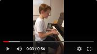 Mooie deuntjes tijdens pianoles