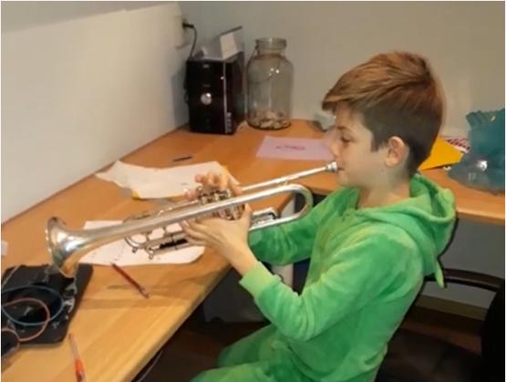 Wout en de trompetles